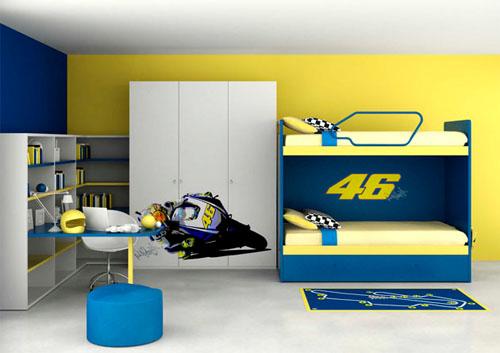ロッシが子供部屋をデザイン:ヴァレンティーノ・ロッシ