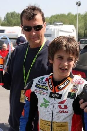 ロッシ弟13歳、ライダーDNAを見せつける:ルーカ・マリーニ