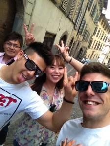 コルティ&中上貴晶の家族同伴イタリア観光