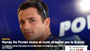 ロッシ『勝ったらモトGPは辞める』、スズキ開発ド・プニエ、カル『マルケス世界一』…etc:今日のできごと