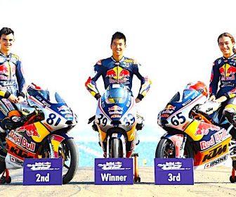 Aleix Viu, Kazuki Masaki, Can Oncu, Red Bull Rookies Cup, Aragon MotoGP 24th September 2017