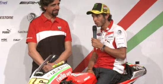 ロッシ&へイデン、新GP12にまたがり抱負を語る