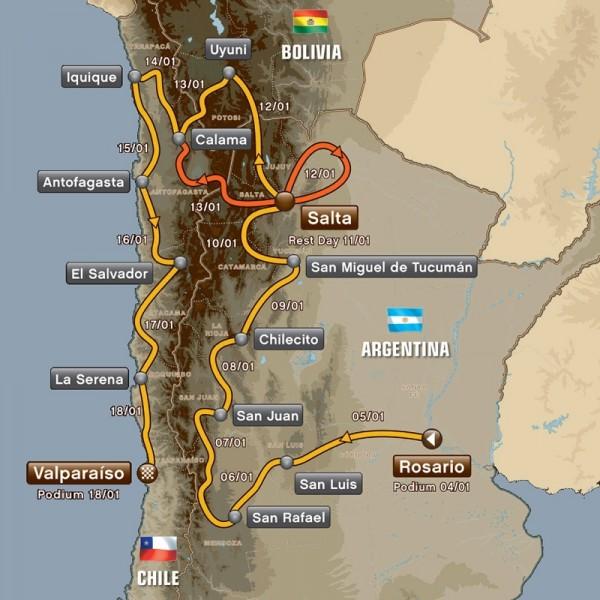 Dakar 2014 Route