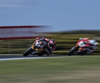 PHILLIP ISLAND, AUSTRALIA - FEBRUARY 26:   Stefan Bradl of Germany and Red Bull Honda World Superbike team leads the field during round one of the FIM World Superbike Championship at Phillip Island Grand Prix Circuit on February 26, 2017 in Phillip Island, Australia.  (Photo by Mirco Lazzari gp/Getty Images)